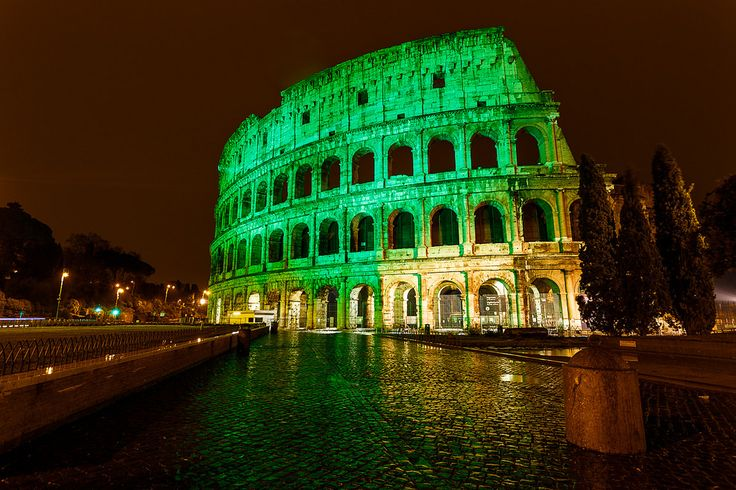 Coliseum in green