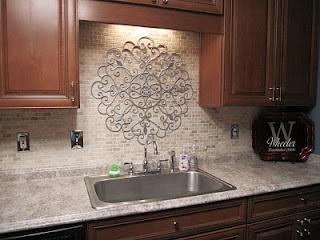 Kitchen wall designs behind sink