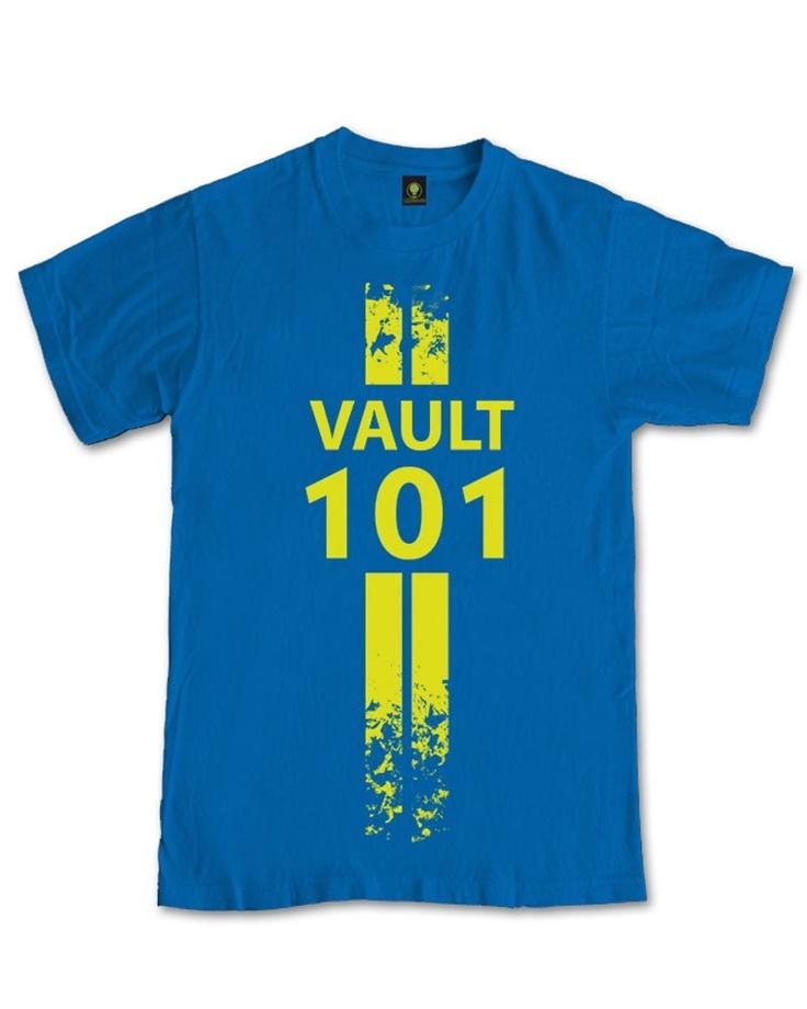 Vault 101 T-shirt Fallout 3 T-shirt GAMING T-shirt