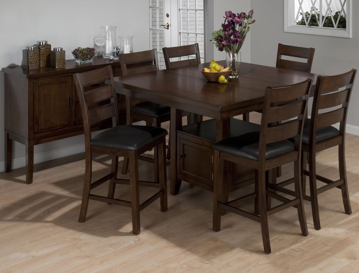 Exceptional Jofran Taylor Cherry Counter Height Dining Table Set   Sit Up All And In  Style With The Jofran Taylor Cherry Counter Height Dining Table Set .
