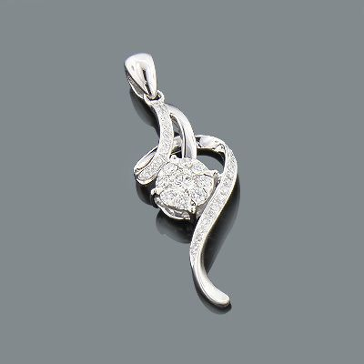 This 18K Gold Designer Diamond Pendant by Luccello Jewelry showcases 0.27 carats of dazzling round diamonds. Featuring an intricate design and a highly polished gold finish, this ladies diamond flower pendant is available in 18K white, yellow and rose gold. Chain must be purchased separately.