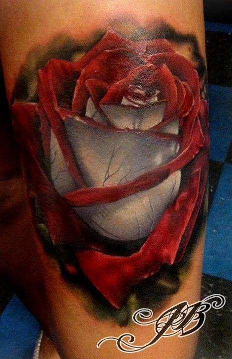 trash polka rose tattoo - Google Search