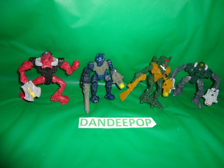 4 Lego Bionicle Toy Action Figures McDonald's Happy Meal Toys 2006-2007 find me at www.dandeepop.com
