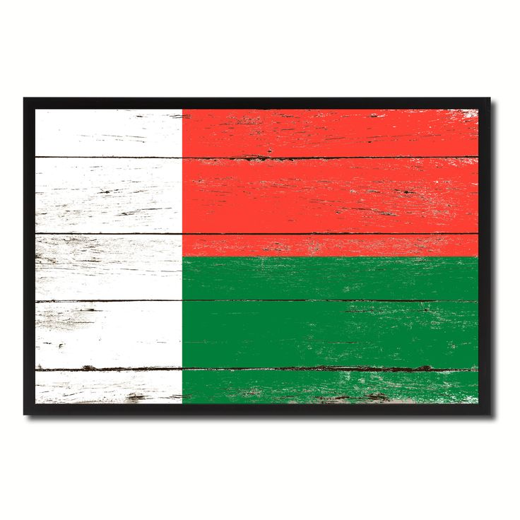 Madagascar Country National Flag Vintage Canvas Print with Picture Frame Home Decor Wall Art Collection Gift Ideas