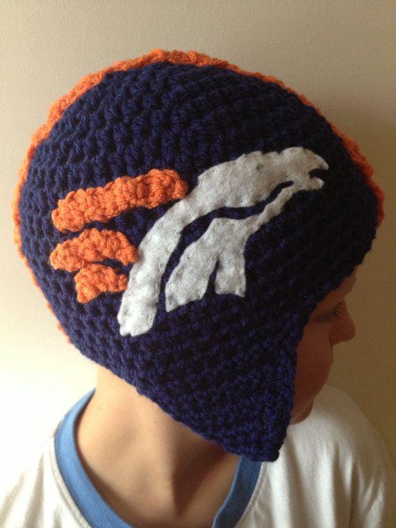 Denver Broncos Helmet Beanie on Etsy, $25.00