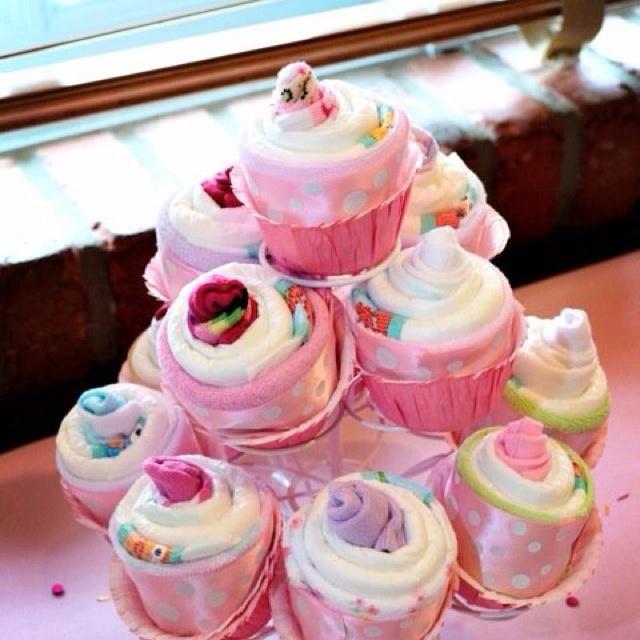 Diaper cupcakes!