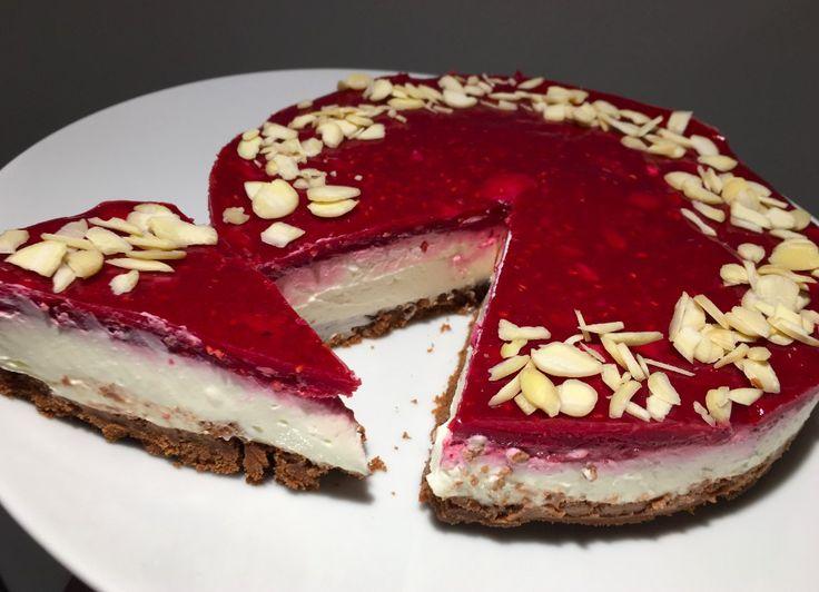 Bez cukru, bez múky a hlavne za 10 minút pripravený NEPEČENÝ cheesecake s malinami