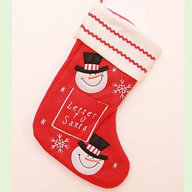 """3db / szett 36cm / 14.2 """"levél mikulás nagy karácsonyi harisnyát karácsony fa dekoráció hóember rénszarvas vegyes stílusok 4537964 2016 – €9.79"""