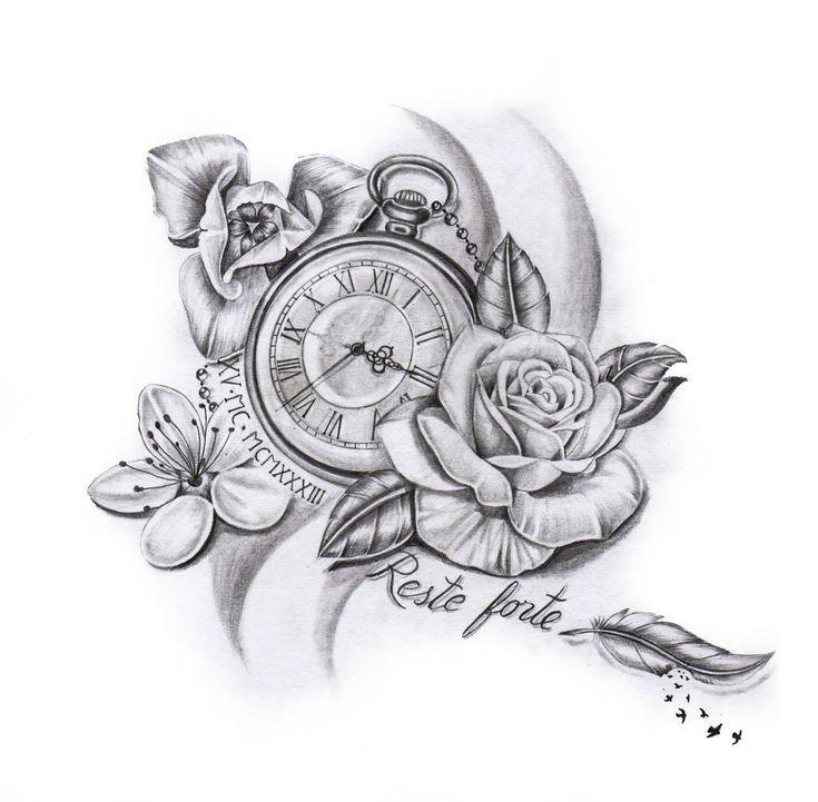 Benötigen Sie ein individuelles Design? Dann sind Sie bei uns genau richtig. – Tattoo Uhren Kompass Sanduhren   – tatto