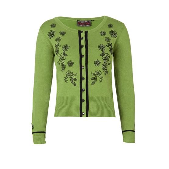 Svetr/cardigan Voodoo Vixen Green Harriet