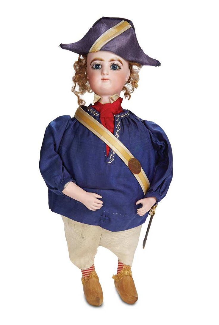 Very Rare French Bisque Doll as Candy Box in Original Costume. Circa 1885. http://Theriaults.com