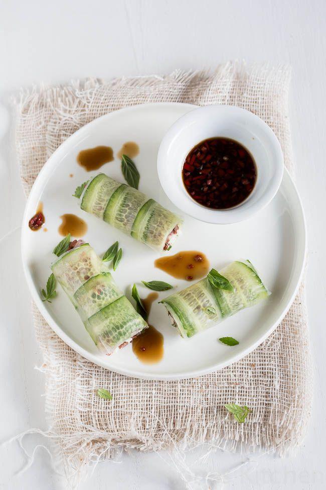Donna Hay #2 – Chicken springrolls with chili dressing - Simones Kitchen Engels