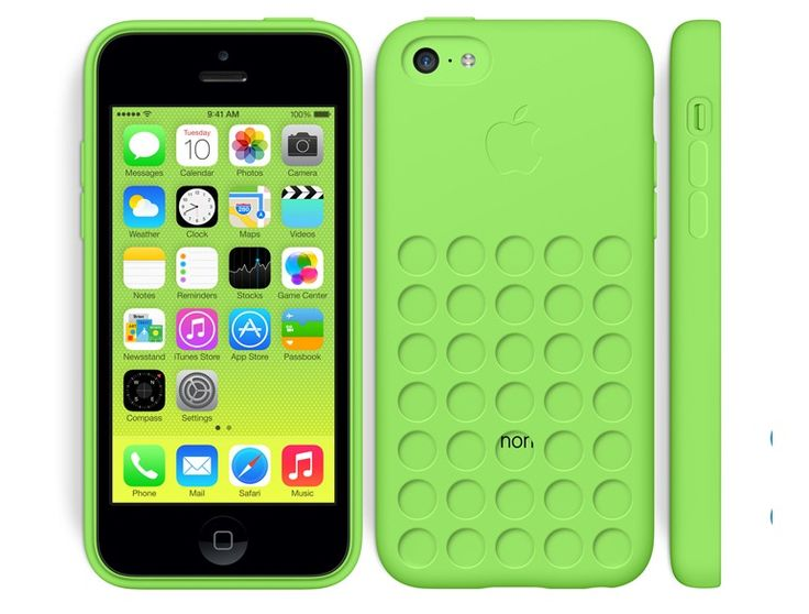 Apple iPhone 5C in Green Case
