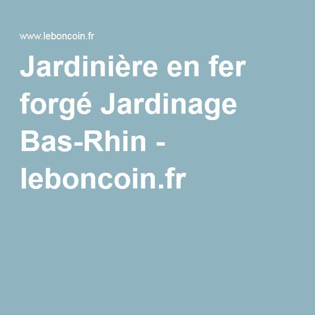 Jardinière en fer forgé Jardinage Bas-Rhin - leboncoin.fr