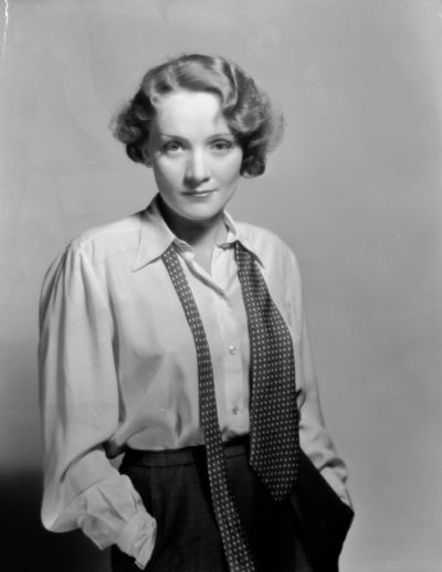 Marlene Dietrich. I don't know why but I love a girl and with a tie.