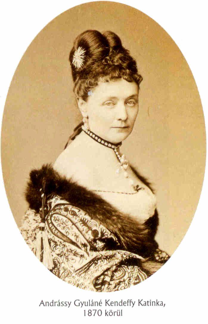Andrássy Gyulane Kendeffy Katinka 1870.