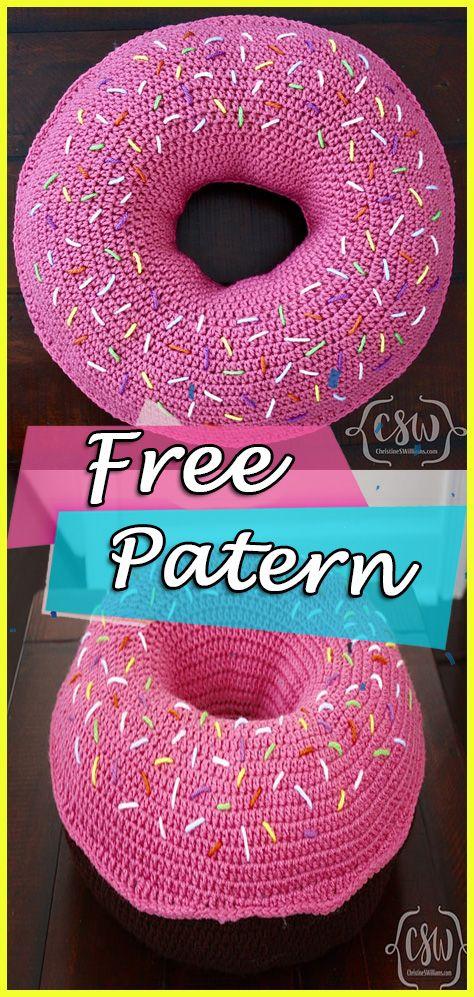 Donut Pillow Crochet Pattern Cushions Tutorial Haken Pinterest