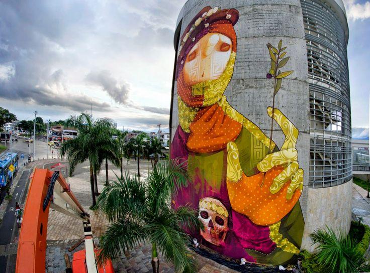 INTI creates a new mural in Cali, Colombia November 2014 #Art #streetart #mural