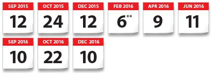 ACT test dates For deadlines and registration, visit act.org.