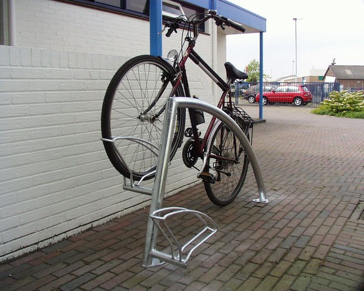 The Triangle-30 cycle stand using a fin style support providing additional locking points and enhanced security.   http://www.falco.co.uk/products/cycle-parking/cycle-stands/cycle-stand-triangle-30/