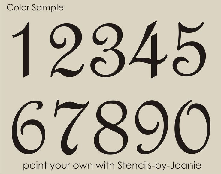 Details about stencil paris french script numbers bride for House lettering script