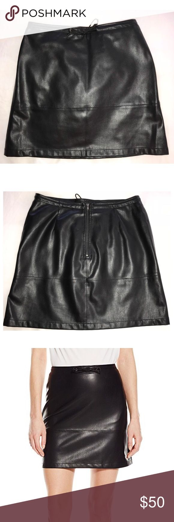French Connection Leather Skirt French Connection Women's Atlantic Pu Drawstring Skirt. Made from luxurious faux leather skirt has a drawstring pull. French Connection Skirts Mini