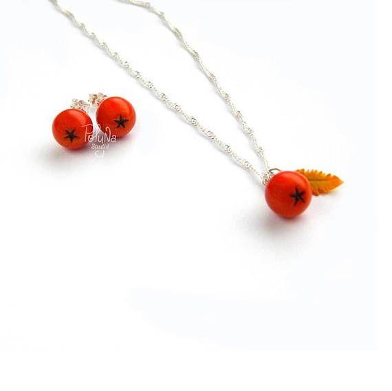 Rowan charm berry pendant  fruit charm   berry jewelry