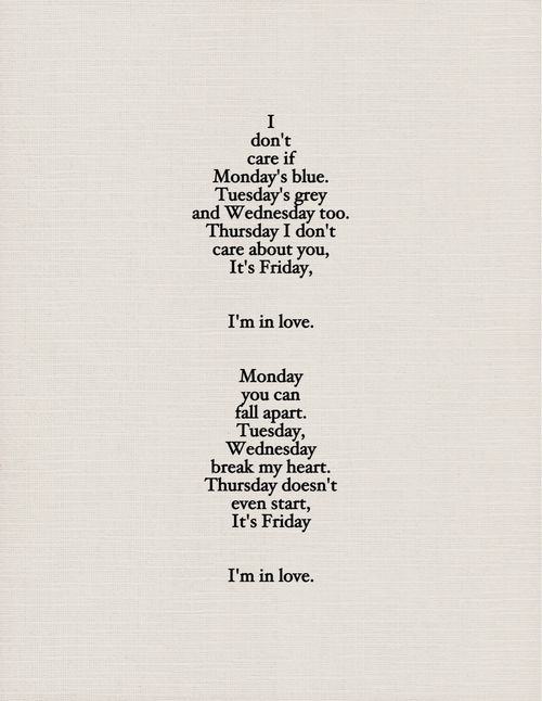 thursdays are my favorite, but