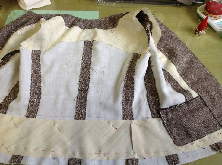 My jacket3-3. I am making the jacket without the collar. A lot of cores of the iron adhesion are employed in Japan, but do not use it here.