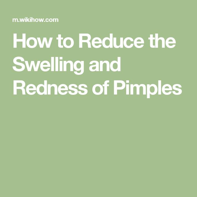 How To Reduce Swelling From Pimple