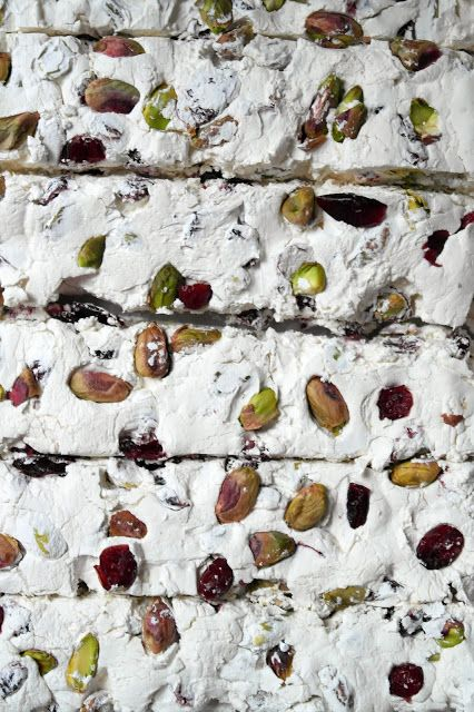 pistachio & cranberry nOugat: Desserts, Christmas Cookies, Pistachios, Candy, Nougat Twiggstudio, Twigg Studios, Cranberries Nougat, Baking, Christmas Ideas