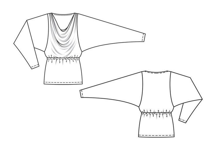 Пуловер - выкройка № 119 B из журнала 12/2013 Burda – выкройки пуловеров на Burdastyle.ru