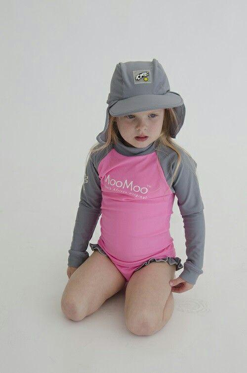 UV top and bikini bottom set by MooMoo Kids