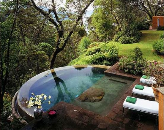 Pond-like pool: Spaces, Favorite Places, Dream, Outdoor, Backyard, House, Pools, Garden