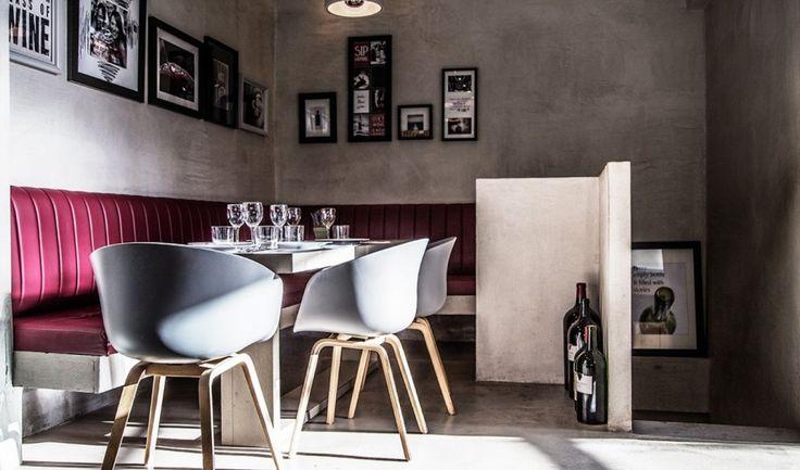 Klima klima wine - bar in Melissia - Athens Volcano Collection Application  #Kourasanit #Volcano #Collection #WhenNatureDecorates #interiordesign #architecture #renovation #chic #bar #fillercoating #design #art #architect #architects #interiors #deco #decoration