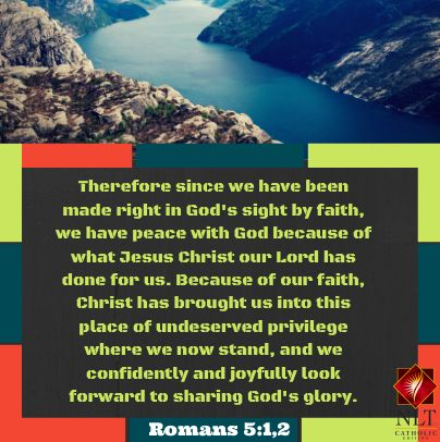 We have been made right with God..WOW.... Jesus' death on the cross made us right with God. Think about that tonight and tomorrow and everyday for the rest of your life.... Today we can go joyfully and confidently before God because Jesus made a way for us...#humbled