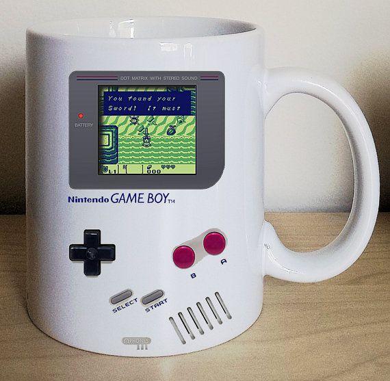 Nintendo, Game Boy, Legend of Zelda, Pokemon, Tetris, Gameboy Coffee Mug, Video game mug