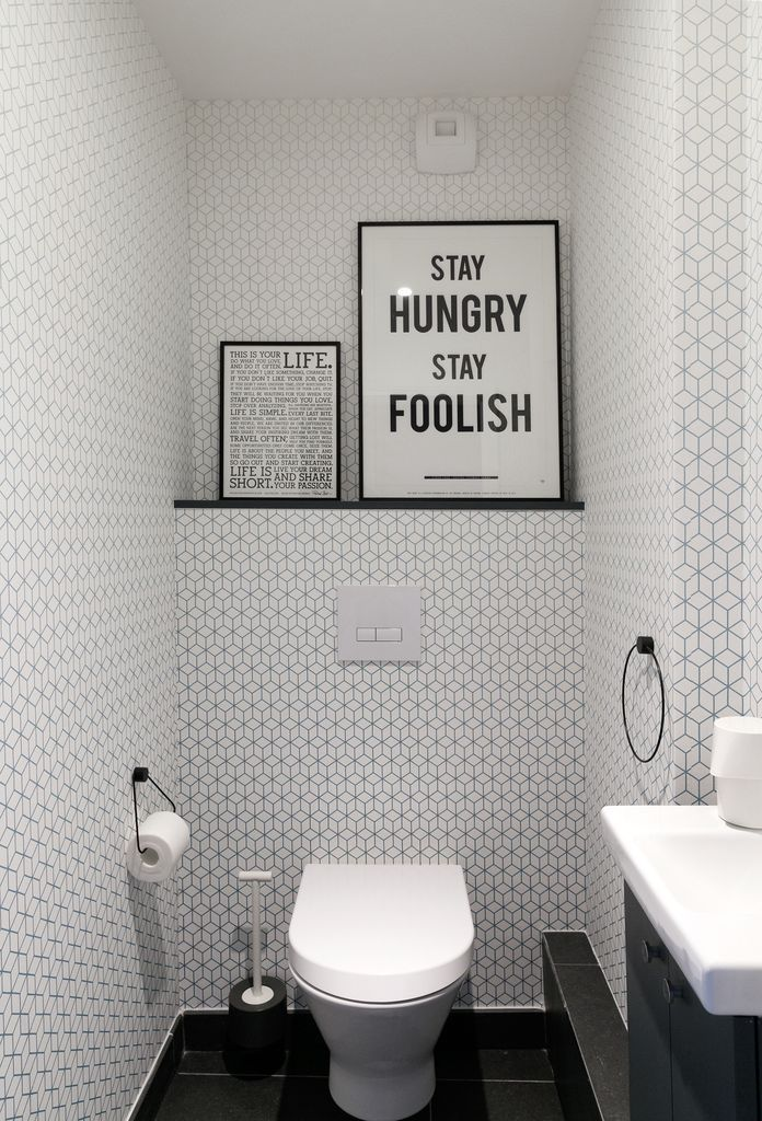 Les 146 meilleures images du tableau toilette wc styles for Kitchen cabinets lowes with papier peint 4 mur