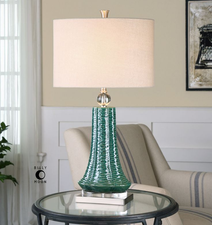Gosaldo Textured Teal Table Lamp