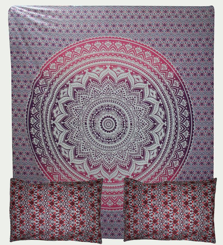 Indian Hippie Mandala Double Queen Size Bed Quilt Duvet Doona Cover Blanket Boho #Handmade #DuvetCover
