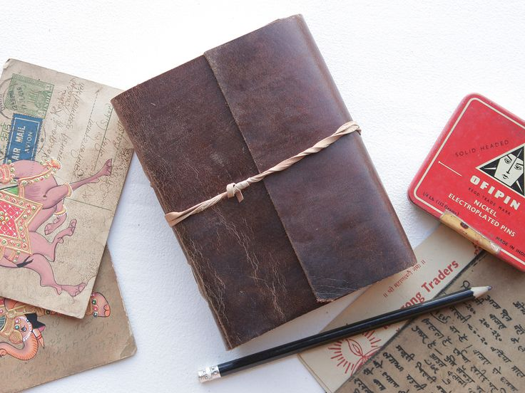 Handmade leather journal from Scaramanga