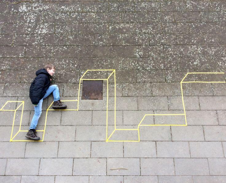 Streetart with teens. Try it! By Hanne Jo