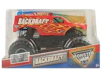 Amazon.com: Hot Wheels Monster Jam Backdraft 1:24 Scale Truck: Toys & Games