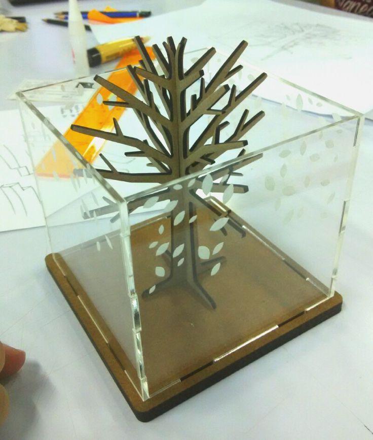 laser cut wood and acrylic pencil holder etc.by Prisilia Felicia Liando UPH, Workshop 2, Despro 2013. UTS