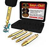 #2: Damaged Screw Extractor Set by AisxleEasily Remove Stripped Gold Oxide Edition Stripped Screw Removers (Glod)