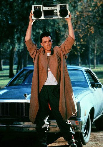 """Say Anything - the romantic """"movie"""" moment.  This scene plus Corey's """"songs about Joe"""" and advice offered from the curb of the Gas and Sip all make this one of my favorite movies."""