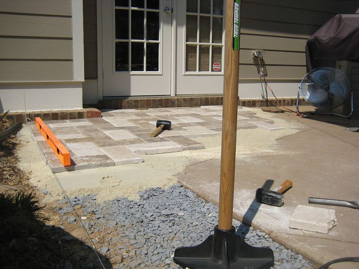 i replaced a 12 x 14 patio slab with natural stone patio pavers and - Patio Slab Ideas