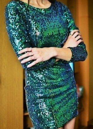 Kaufe meinen Artikel bei #Kleiderkreisel http://www.kleiderkreisel.de/damenmode/kurze-kleider/138711913-paillettenkleid-kleid-pailletten-grun-blau-grs-neu-party-silvester