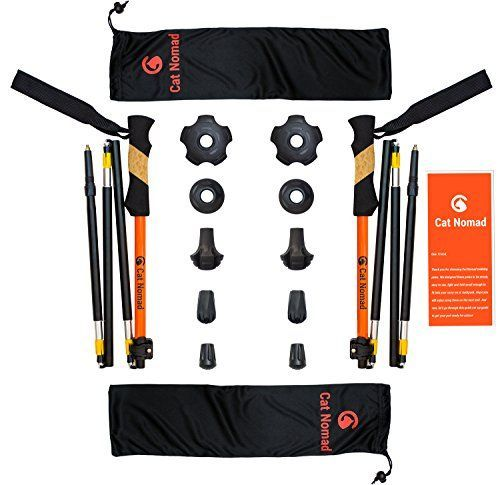 Ultra Compact Trekking Poles Set, Pair of Ultralight, Sturdy, Foldable, Adjustable and Collapsible Walking Hiking Sticks Folding Trekking Poles for Men, Women and Kids >>> Check this awesome product by going to the link at the image.