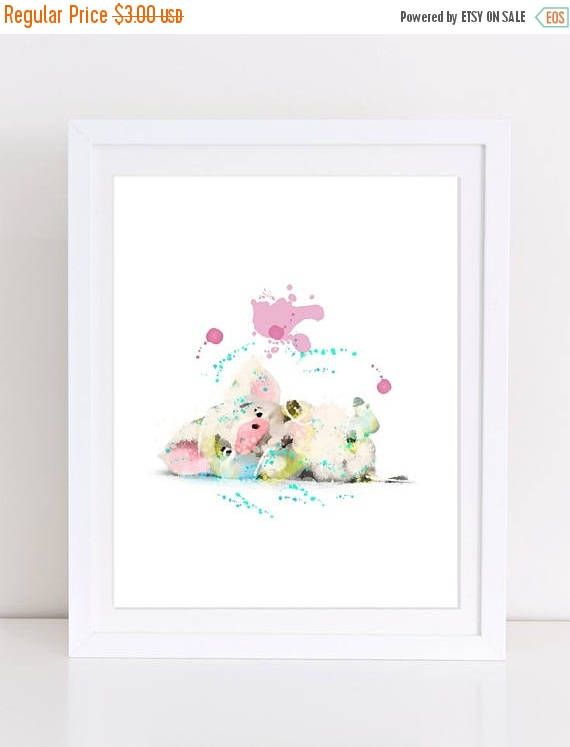 70%OFF Moana Pig Printable Disney Watercolor Poster Disney Pig